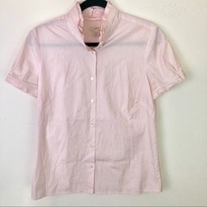 J. Crew Button Up Stipe Short Sleeve Career